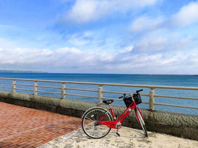 宮古島おすすめ朝のサイクリング!平良港近辺海岸沿コース!